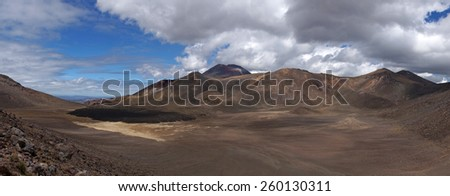 Tongariro crossing/New Zealand - stock photo