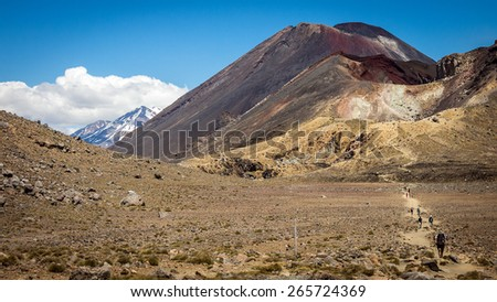 Tongariro Crossing, New Zealand - stock photo