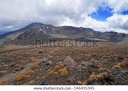 Tongariro Region, New Zealand - stock photo