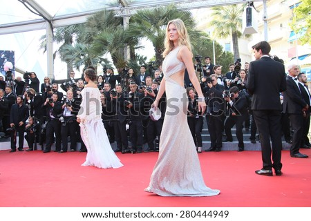 Toni Garrn attends the 'Little Prince' Premiere during the 68th annual Cannes Film Festival on May 22, 2015 in Cannes, France. - stock photo