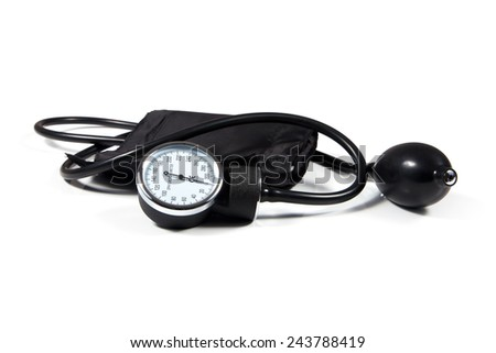Tonometer doctor equipment. Tool for the measurement of blood pressure. Health control. - stock photo