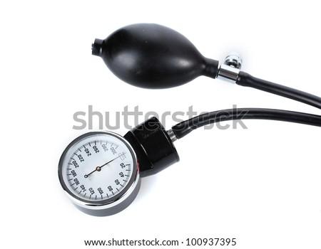 tonometer isolated on white - stock photo
