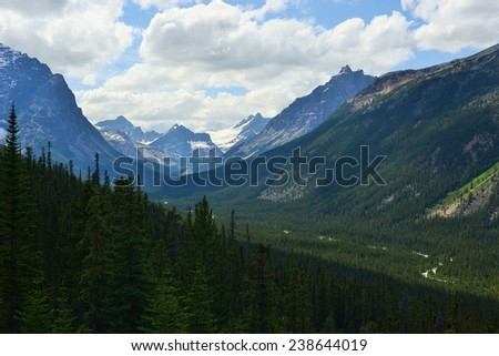 Tonquin Valley on a Summer Day - stock photo