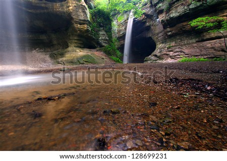 Tonti Canyon at Starved Rock State Park - stock photo