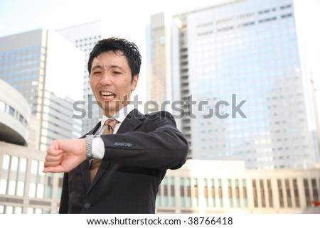 too busy businessman