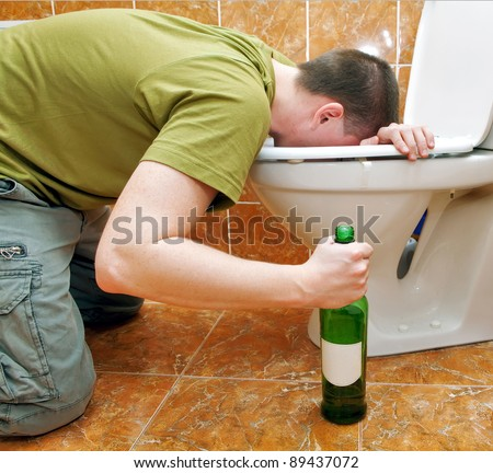 Drunk people vomiting are