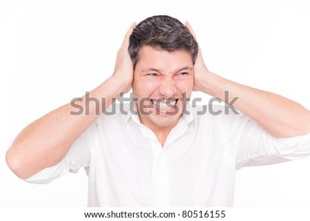 too loud - stock photo