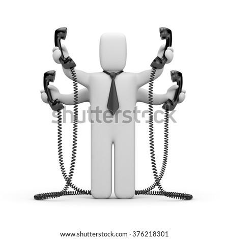 Too many calls - stock photo