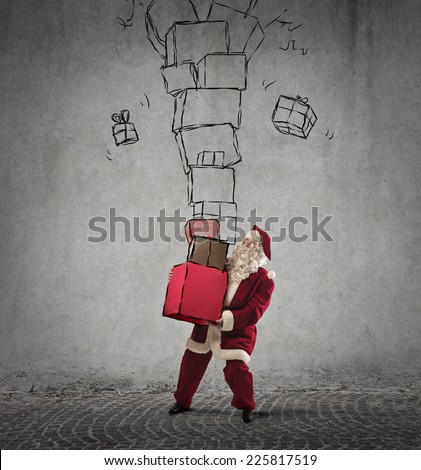Too many gifts  - stock photo