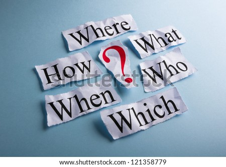 Too many questions with red question mark - stock photo