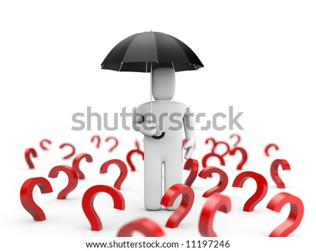 Too much questions - stock photo
