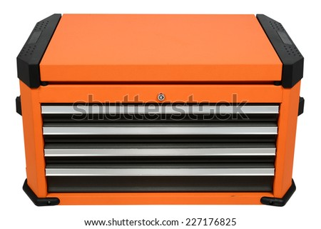 Tool Cabinets on white background - stock photo