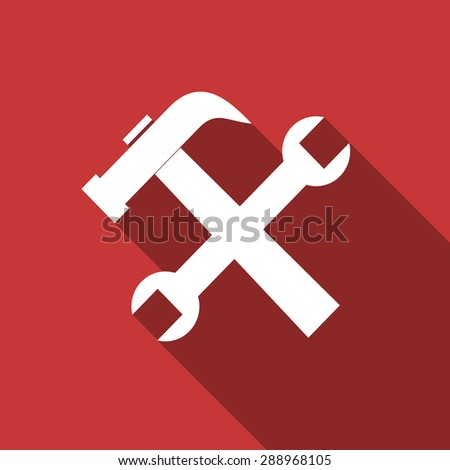 tool flat design modern icon with long shadow for web and mobile app  - stock photo