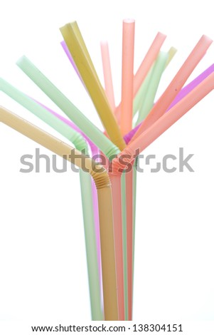 Tool For Colored Drinking Straws