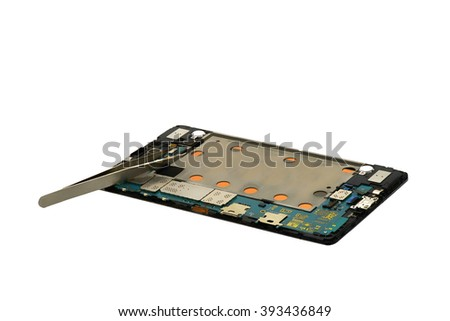 Tool for disassembling broken Touch Screen - stock photo