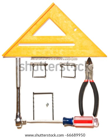 Tool house, home improvement concept - stock photo