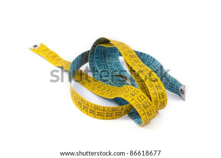 tool to control the body measurements, diet - stock photo