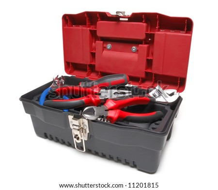 Toolbox isolated over a white background