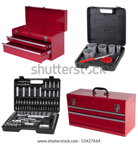 toolbox isolated over white background