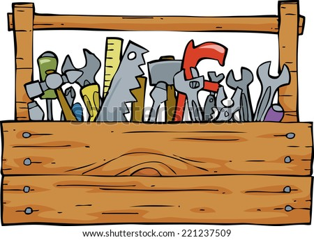 Toolbox on a white background raster version - stock photo
