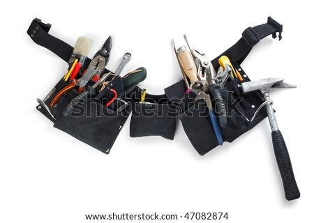 tools belt - stock photo