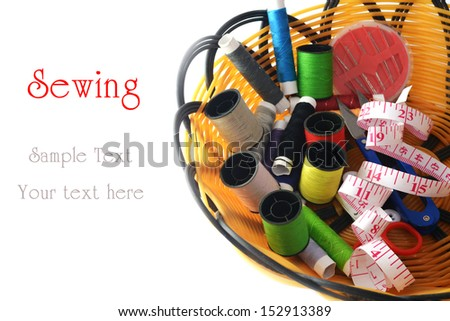 Tools for sewing and handmade - stock photo
