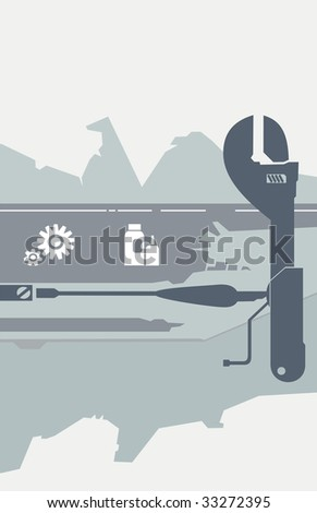 Tools for the car - stock photo