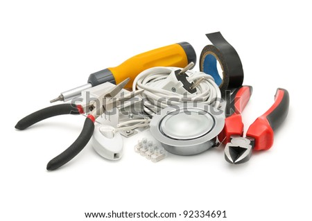 tools isolated on a white background - stock photo