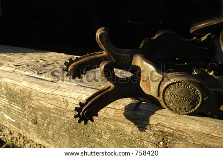 tools of cowboy - stock photo