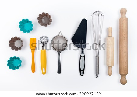 tools pastry still life - stock photo
