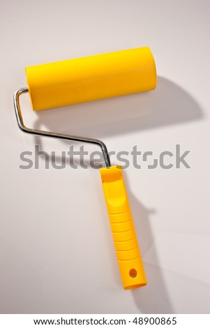 tools series: yellow soft rubber wallpaper roller
