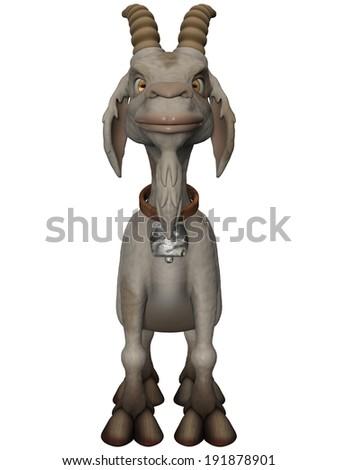 Toon Goat - stock photo