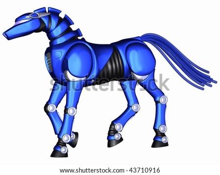 Toon Robot Horse - stock photo