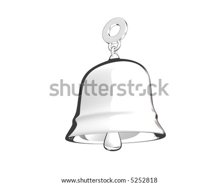 toon style bell (3D) - stock photo