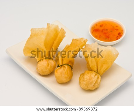 Toong-Thong (1 kind of spring rolls) - stock photo