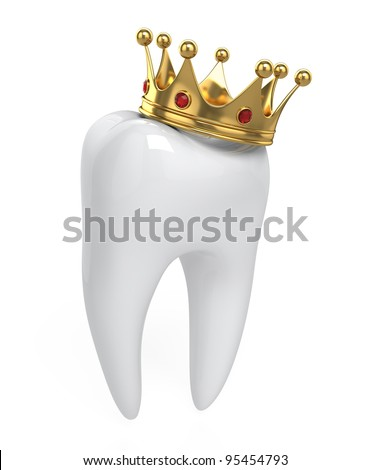 Tooth and crown - stock photo