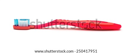 tooth brush isolated on a white background - stock photo