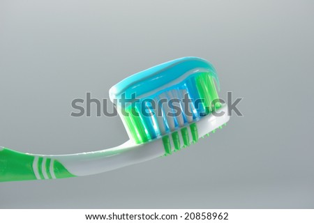 Tooth-brush with paste gel