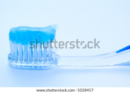 Tooth-brush with tooth-paste - stock photo