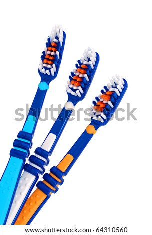 Tooth-brushes isolated on a white background