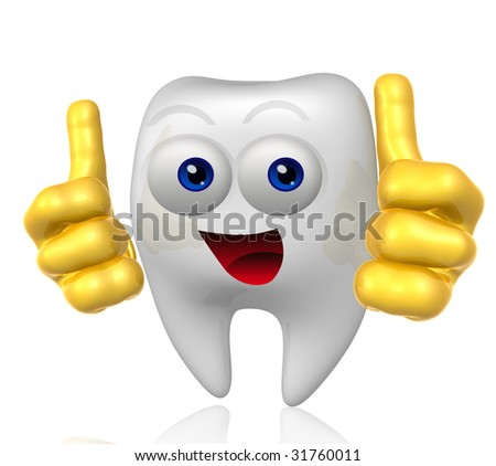 Tooth dentist mascot icon figure - stock photo