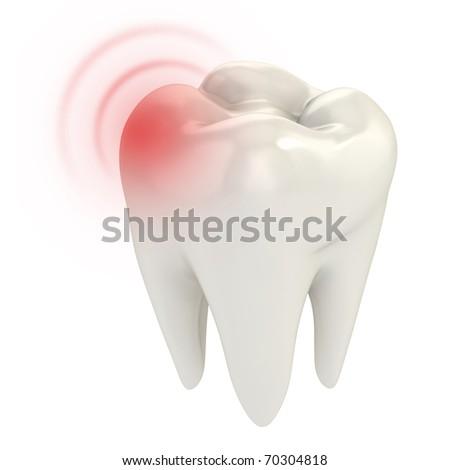 toothache 3d concept - stock photo