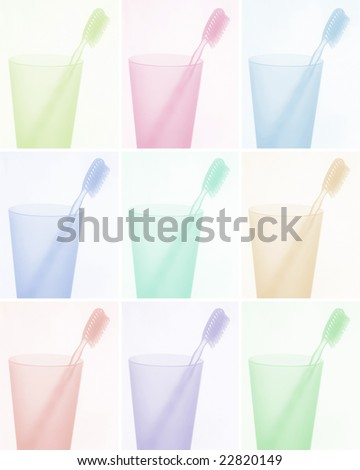 toothbrush background - for health care or dentists - stock photo