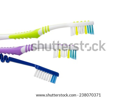 toothbrush isolated - stock photo