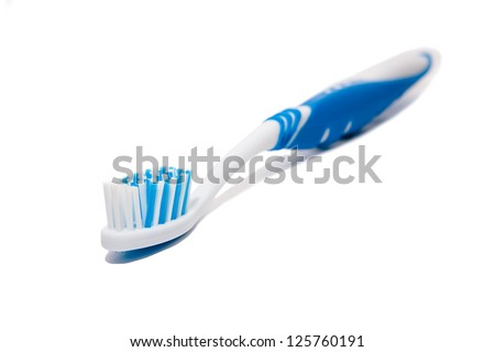 Toothbrush. Isolated on a white background - stock photo