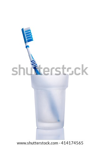 Toothbrush isolated on white - stock photo