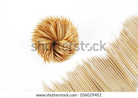 toothpick in box - stock photo