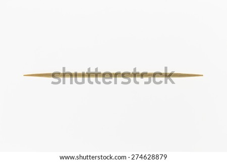 toothpicks  on white background