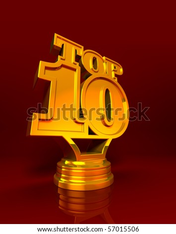 Top 10 - stock photo