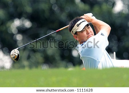Top Asian golf player, Charlie Wi of Korea - stock photo